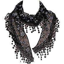 MRULIC Echarpes foulards femme Foulard en fausse fausse Fourrurede raton  laveur D élevage Véritable Élégant d7c452bd94f