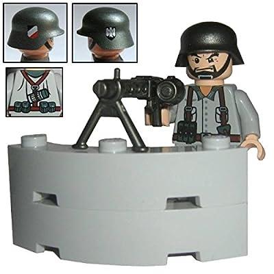 """Custom Brick Design Figur - WW2 Serie - Deutscher Soldat """"MG-Schütze"""" von Custom Brick Design"""