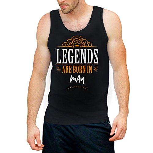 Legends are born in Mai - Geschenke Tank Top Schwarz