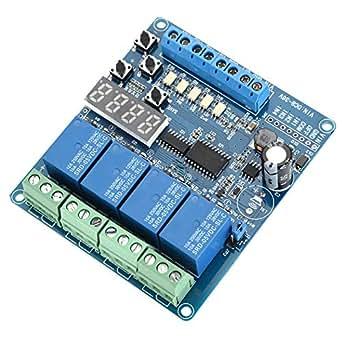 8-36V Relaismodul 4-Kanal-Multifunktions-Zeitrelais-Relais-Schnittstellenmodul Optokoppler-LED