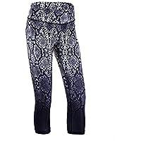 MAYUAN520 Serpentine Muster Gradient Drucken Frauen Sport Enganliegenden Elastischen Laufen Yoga Fitness Yoga Leggings 3/4 Shorts
