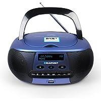 Blaupunkt BD 400 Digital 5W Azul - Radio CD (Digital, Dab+,FM, 87,5-108 MHz, Jugador, CD,CD-R,CD-RW, Repetir)