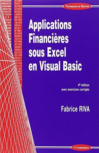 Applications financires sous Excel en Visual Basic
