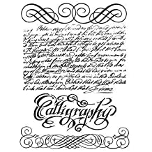 Stamperia Large Calligraphy Rubber Stamp