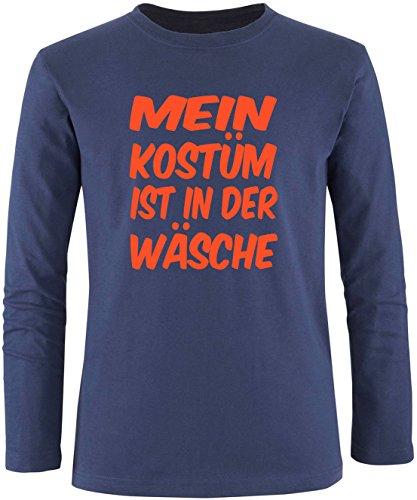 Luckja Mein Kostüm ist in der Wäsche Herren Longsleeve Navy/Orange
