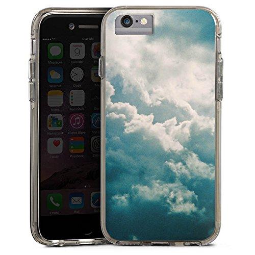 Apple iPhone 6s Bumper Hülle Bumper Case Glitzer Hülle Wolken Himmel Natur Bumper Case transparent grau