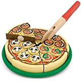 FunBlast Pizza Set Wooden Toy, Party Play Kitchen Set, Pretend Play Toy For Kids (Multicolor)