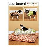 Butterick Schnittmuster Muster 6303OS Hundeweste/Hundemantel und Bett in 2Größen, Mehrfarbig