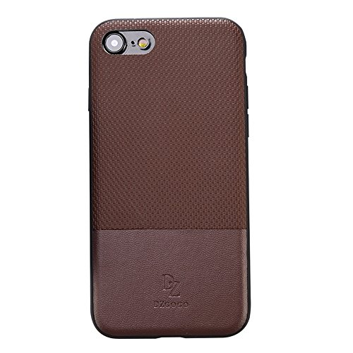 Wkae DZGOGO LUXURY Serie + PC Business Style Lederbekleidung Schlagkombination Schutzhülle für iPhone 7 TPU ( Color : Black ) Brown