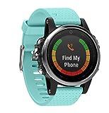 Reloj banda correa para Garmin Fenix 5s GPS reloj peibo SW491repuesto Silicagel correa de banda de instalación rápida, azul celeste