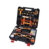 HSUO Haushalt Wartung Multifunktionale Hardware-Tools Kombination Kit Elektrische Holzbearbeitung Werkzeugkasten Taiwan Qualität 46 Stück Taschenlampe Fonds