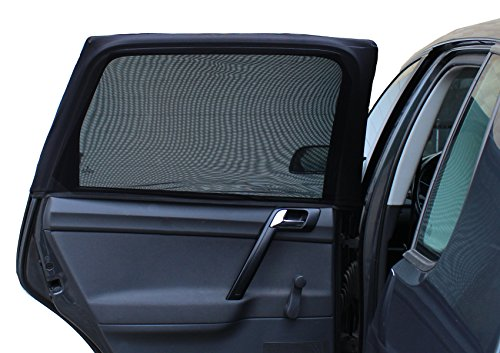Auto-Sonnenschutz | Komplettes Netz | PREIS-LEISTUNGS-SIEGER vergleich.org 04/2017 | Exzellente Abdeckung & Schutz gegen Sonneneinstrahlung (2er Set)