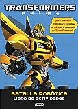 Transformers Prime. Batalla robótica. Libro de actividades: ¡Dale la vuelta al libro para encontrar tu máscara recortable de Transformers!