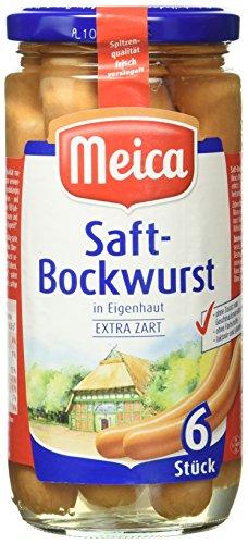 Meica 6 Saft- Würstchen Eigenhaut, 12er Pack (12 x 180 g)