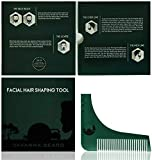 Barbe Styling & Peigne Modèle avec l'outil Shaper Barbe Guide pour la symétrie de...