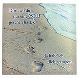 Glasrelief Spuren im Sand, 13,5x13,5 cm
