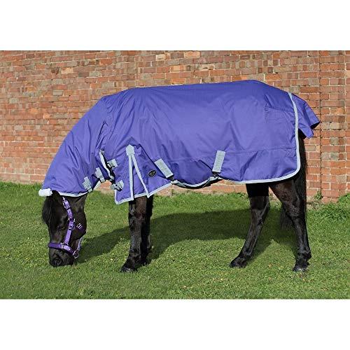 Mark Todd Pony mittlere Combo Weidedecke (140/90cm) (Violett/Grau)