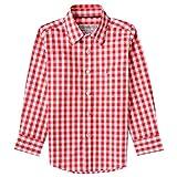 Almsach Trachtenhemd Eddi für Kinder in Rot inklusive Volksfestfinder, Farbe:Rot, Größe:128/134