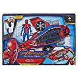 Marvel Spider-Man Far From Home - Véhicule Spiderjet et figurine - Jouet Spider-Man