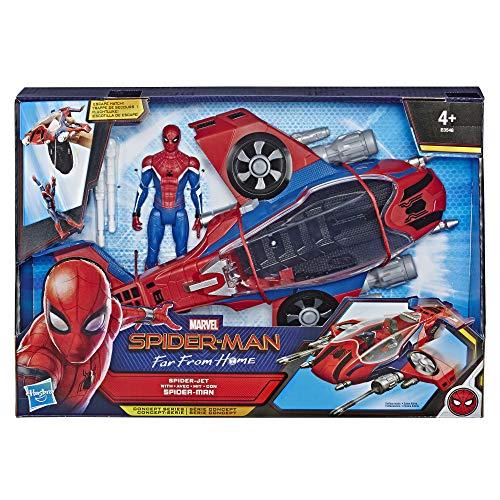 Marvel Spider-Man Far From Home - Véhicule Spiderjet et figurine - Jouet Spider-Man