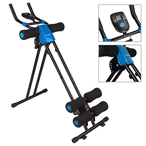 Kinetic Sports Bauchtrainer AB-Trainer mit Trainingscomputer, Zusammenklappbar, 4 Intensitätsstufen