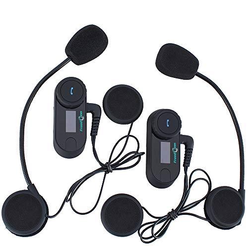 FreedConn Motorrad Gegensprechanlage Headsets Motorradhelm Intercom Wasserdicht Wireless Interphone mit LCD Bildschirm (Gegensprechanlage Und Wireless-lautsprecher)