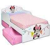 TW24 Einzelbett - Bett - Kinderbett Disney Minnie Weiß 140cm x 70cm - Holz mit Schubladen