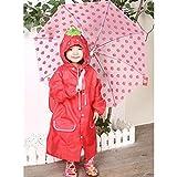 hibote antivento antipioggia Bambini pioggia CapeKids Spesso Poncho di viaggio per i ragazzi & Gilrs S / 4-8 anni (Blu)