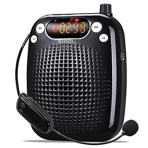 Amplificateur voix portable rechargeable avec haut-parleur Microphone
