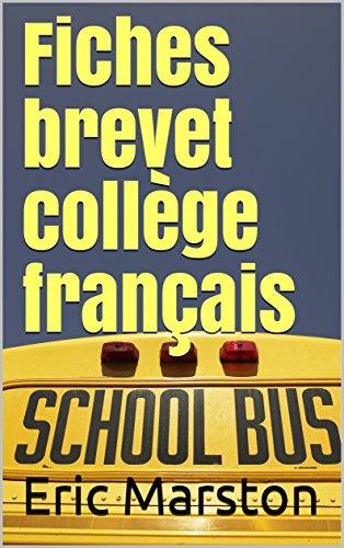 Couverture du livre Fiches brevet collège français