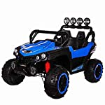 VLRA Children's electric car 2-Seater 24v 4-Wheel Drive Ride-In Off-Road Jeep