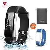 GENKI Fitness Trackers Fitness Armband mit Pulsmesser Fitbit Uhr GPS Wasserdicht