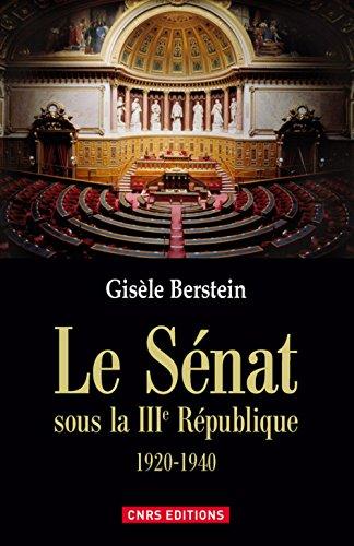 Le Sénat sous la IIIe République 1920-1940