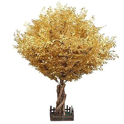 XUANLAN-Realistischer-knstlicher-Baum-Simulation-Goldener-Eukalyptus-Groe-Innendekoration-Knstliche-Baum-Grnpflanze-Geflschte-Blume-Pflanze-Wishing-Tree-Leicht-zu-reinigen