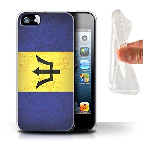 Stuff4 Gel TPU Hülle / Case für Apple iPhone 7 Plus / Venezuela Muster / Amerika Flagge Kollektion Barbados/Barbadian