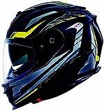Nexx XT1 Grid Helm XL (61/62) Schwarz/Gelb