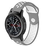 Colorful Samsung Gear S3 Frontier Ersatzarmband Silikon Sport Ersatzarmband Ersatz-Uhrenarmband Replacement Wechselarmband watch band für Samsung Gear S3 Frontier (K)