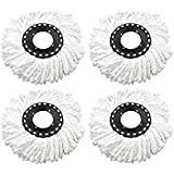 House of Quirk Pack of 4 Replacement Mop Head Refill Duster