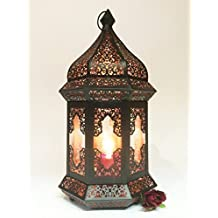 Orientalische Indische Gartenlaterne Glaslaterne Wifaq