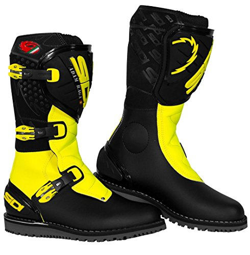 Sidi Trial Zero.1 Raga Limited Edition Motorcycle Boots 43 Black Yellow Fluo (UK 9)