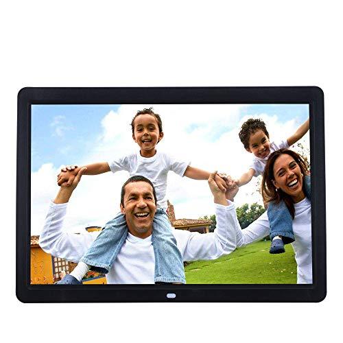 TONGTONG 14 Zoll HD Digital Photo Frame mit Auto Rotation Calendar Clock Funktion MP3 Photo Video Player mit Fernbedienung - Digital Frame Photo 14 Zoll