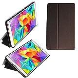 wortek Flip Case Standfunktion Samsung Galaxy Tab S 8.4 Bronze Braun