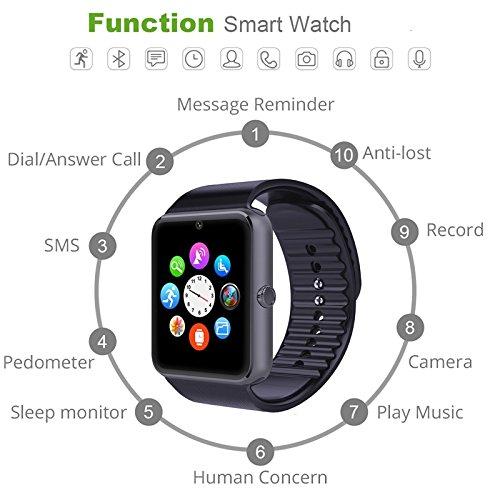 YAMAY® Bluetooth Smartwatch Uhr Intelligente Armbanduhr - 3