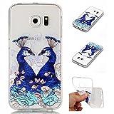 Coque Pour Samsung Galaxy S6 Edge,Coffeetreehouse Motif soft coloré de motif...