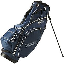 Spalding Stand - Bolsa con trípode para palos de golf, color azul, talla 9-pulgadas