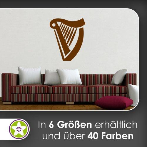 Harfe Wandtattoo in 6 Größen - Wandaufkleber Wall Sticker