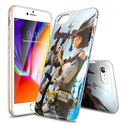 WDP iPhone 7/8 Case,FINAL FANTASY XIV Clear Back TPU Gel Case [Drop  Protection/Shock Absorption Technology] For iPhone 7/8 Case,iPhone 7 Gel