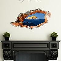 kinine Creative 3D stereo Wall stickers murali per impostare uno sfondo di hotel camere da letto soggiorno divano TV Bagno prospettiva adesivi HD Wall stickers pigmento verde #002 ,