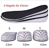 Heel Lift Insoles EVA height increase Elevator Shoe Insoles Sport Shoe Inserts for Men Women (L2 (4.2 cm for Men))