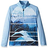 Spyder niña Limitless Powder Peak Esquí Petos, otoño/Invierno, Niñas, Color Powder Peak/Blue Ice, tamaño Extra-Large